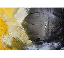 Starting Point,Gold Abstract Giclee,Gold grey Giclee Print,Abstract Painting,yellow white Giclee, grey print,gold wall art Photographic Print