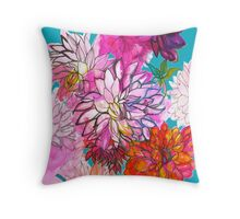 Garden of Dahlias Throw Pillow