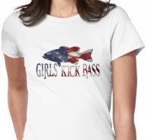 AMERICAN BASS GIRL Womens Fitted T-Shirt