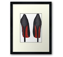 Just buy the shoes Framed Print