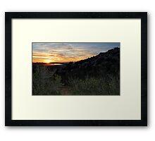 Evening Moves In Framed Print