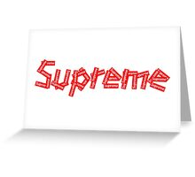 SUPREMEBOXED Greeting Card