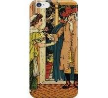 Beauty and the Beast by Walter Crane 1875 7 - At the Door iPhone Case/Skin