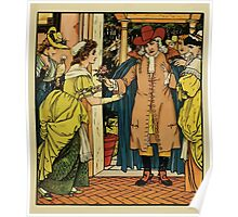 Beauty and the Beast by Walter Crane 1875 7 - At the Door Poster