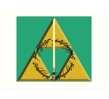 The Geekly Hallows Full Color - The Ultimate Geek T-Shirt Art Print