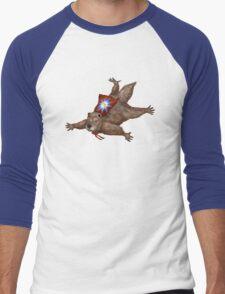 Phil Groundhog Superhero  Men's Baseball ¾ T-Shirt