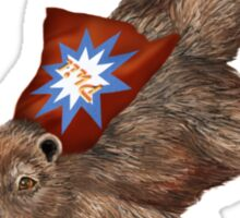 Phil Groundhog Superhero  Sticker