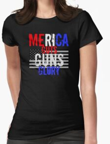 Merica Womens Fitted T-Shirt