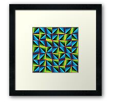 Tiled abstract pattern Framed Print
