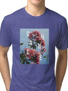 Chance the Rapper - Floral Shirt Design Tri-blend T-Shirt
