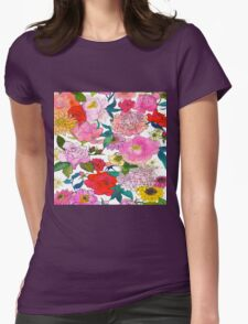 Peonies & Roses Womens Fitted T-Shirt