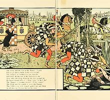 Cinderella Picture Book containing Cinderella, Puss in Boots, and Valentine and Orson Illustrated by Walter Crane 1911 32 - Bathe in the River Today by wetdryvac