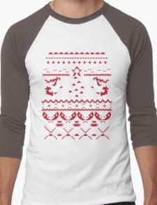An Ugly Pokemon Christmas Men's Baseball ¾ T-Shirt