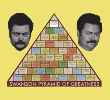 Swanson Pyramid of Greatness Baby Tee