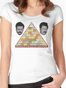 Swanson Pyramid of Greatness Women's Fitted Scoop T-Shirt
