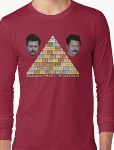 Swanson Pyramid of Greatness Long Sleeve T-Shirt