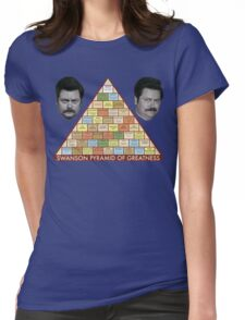 Swanson Pyramid of Greatness Womens Fitted T-Shirt