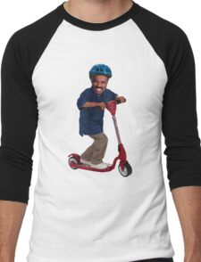"""""""This is Steve Harvey as a Five Year Old Riding a Scooter"""" Men's Baseball ¾ T-Shirt"""
