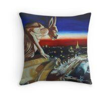 Gargoyle at Notre Dame Throw Pillow