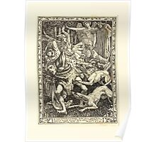 Eight illustrations to Shakespeare's Tempest by Walter Crane 1894 17 - A Noise of Hunters is Heard Poster