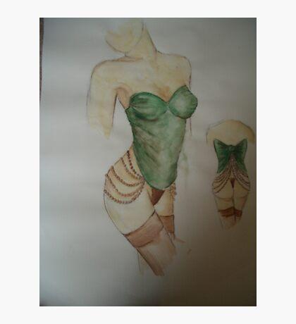 green corset Photographic Print