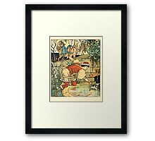 Princess Belle-Etoille 1909 Walter Crane 14 - At the Fountain Framed Print