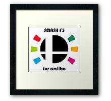 Smash F5 for amiibo Framed Print
