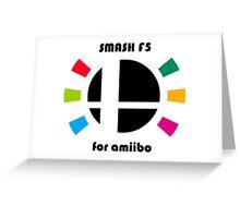 Smash F5 for amiibo Greeting Card