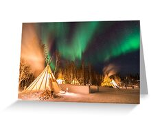 Aurora Village Tepees Greeting Card
