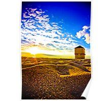 sandy sunrise Poster