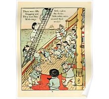Fairy ship 18xx Walter Crane 13 - There were Fifty Little Sailors Poster