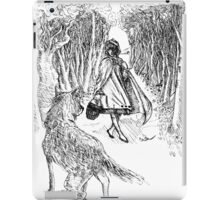 The Little Girl and The Wolf  iPad Case/Skin