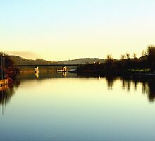 The River Bann In Coleraine On  A  Late Summer Evening In Ireland  by paul35