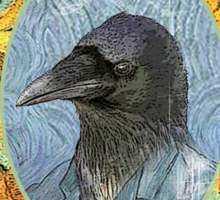 vincent van crow art supplies Sticker