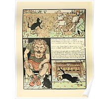 Cinderella Picture Book containing Cinderella, Puss in Boots, and Valentine and Orson Illustrated by Walter Crane 1911 38 - Ogre into Mouse Poster