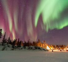Aurora Village Ice Road View by SteveClifton