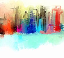 Colorful City Impressionism by Jessielee72