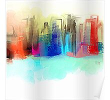 Colorful City Impressionism Poster