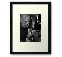 Gary and Lucky BW Framed Print