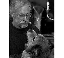 Gary and Lucky BW Photographic Print