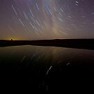 Dam Star Trail Reflections by Murray Wills