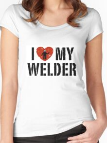 I love my Welder Shirt, Sticker, Cases, Skins, Mug, Poster Women's Fitted Scoop T-Shirt
