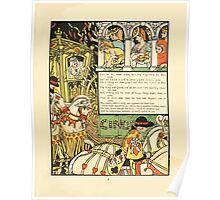Cinderella Picture Book containing Cinderella, Puss in Boots, and Valentine and Orson Illustrated by Walter Crane 1911 29 - Sisters Kneel and Beg Forgiveness of their Pride Poster