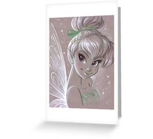 Toned Paper TinkerBell Greeting Card