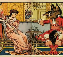 Beauty and the Beast by Walter Crane 1875 12 - At Tea by wetdryvac