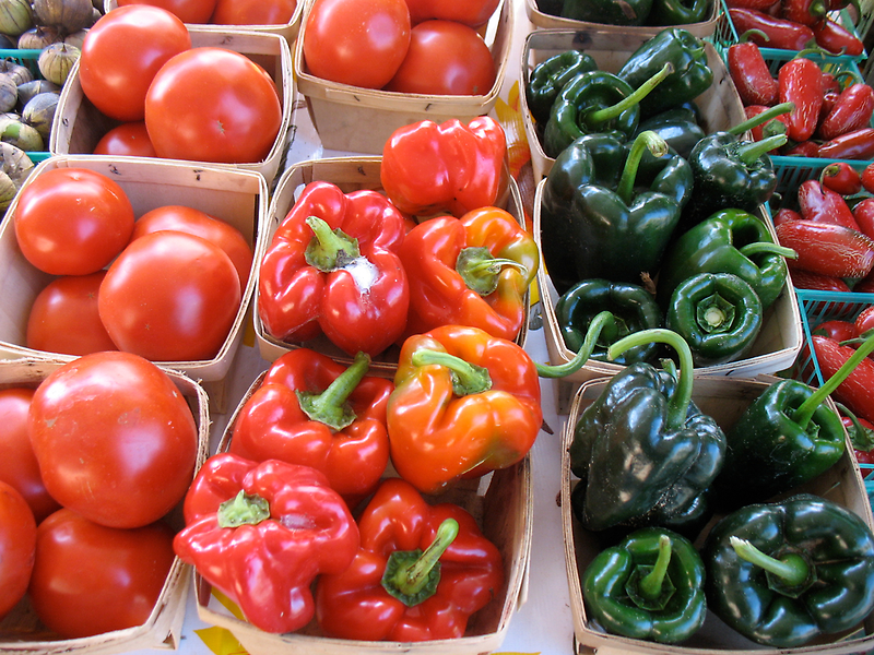 Vegetables at Farmers Market by Roger Wheaton
