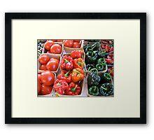 Vegetables at Farmers Market Framed Print