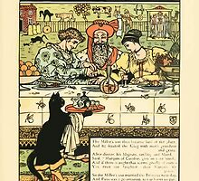 Cinderella Picture Book containing Cinderella, Puss in Boots, and Valentine and Orson Illustrated by Walter Crane 1911 39 - The Miller's Son Become Lord by wetdryvac