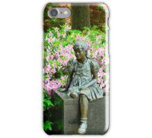Little Girl in the Garden iPhone Case/Skin
