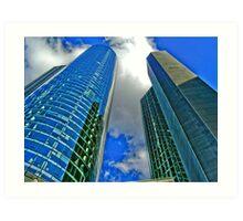Main Tower Frankfurt HDRi Art Print